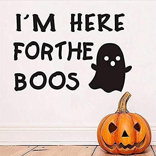 Wandaufkleber Ich bin hier niedlich geist wandaufkleber kinderzimmer halloween dekoration diy wandtattoos dekoration zubehör 59 * 40 cm (Niedliche Halloween Dekoration Diy)