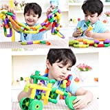 Edealing (TM) 72pcs Tubation avec roues Construction Building Blocks Ensemble d'entrelacement Jouets Pipeworks