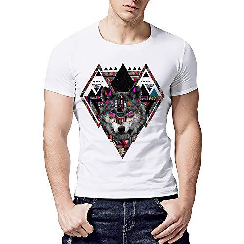 feiXIANG Maglietta per Uomo T-Shirt con Stampa Divertenti Maglia a Manica Corta Estate Camicie Sportive Maglie a Maniche Corta Magliette da Escursionismo Termica RegaloTees ShirtFitness