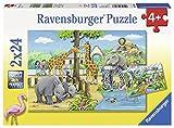 Ravensburger - Puzzle 2 x 24, Bienvenidos al Zoo (07806)