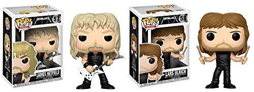 Funko POP! Metallica: James Hetfield + Lars Ulrich - Vinyl Figure Set NEW