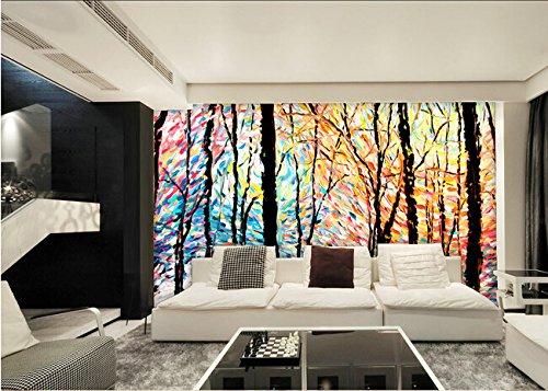 Malilove custom 3d grande murale,astratto moderno dipinto semplice alberi colorati,soggiorno,sfondo tv,camera da letto carta da parati a parete400x280cm