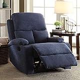 Furny Elisse Single Seater Recliner (Dark Blue)