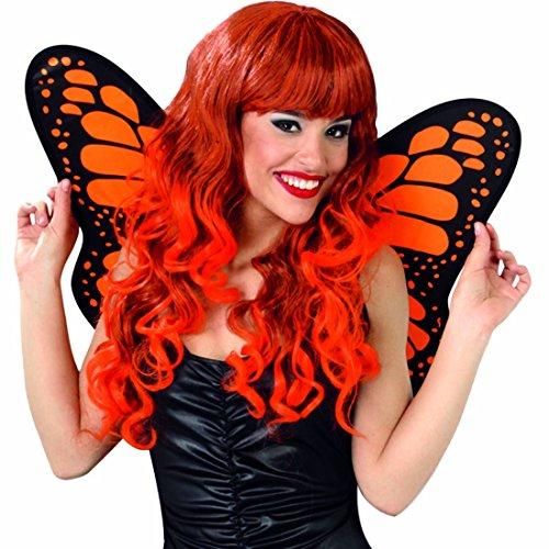 Amakando Feenflügel Schmetterlingsflügel schwarz-orange Schmetterling Flügel Fee