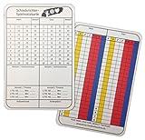 Schiedsrichternotizkarten für Handball - 100 Stück, 8x12cm, stabiler Karton, neue Generation Spielnotizkarten gem. aktuellem Reglement, deutsch