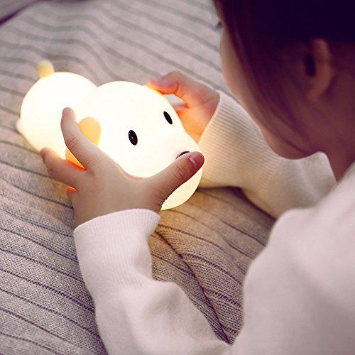 Cadeaux Créatifs Terne Wang Silicone Nuit Lumière Chambre Dessin Animé Dormir Nuit Lumière Nouvel An Cadeaux Créatifs, Chien Terne, Lumière Jaunenoël Halloween Nouvelle Année