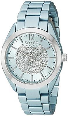 SO & CO New York SoHo 5096A.1 - Reloj de pulsera Cuarzo Mujer correa deAcero inoxidable Azul de SO&CO New York