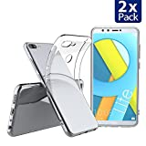 Elekin Hülle für Honor 9 lite, Huawei Honor 9 lite Hülle, Honor 9 lite Transparent Clear TPU SchutzHülle Case Hülle [2 Pack]