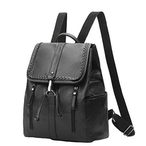 Damen PU Umhängetasche Personalisierte Tasche Rucksack Mode Einfach Black2