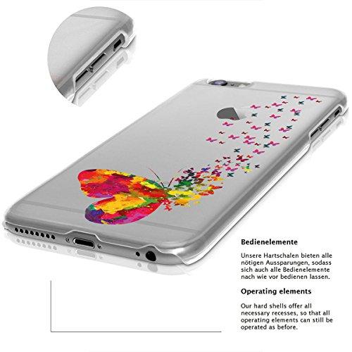 Motivo Serie 2 Custodia Rigida Iphone - Navy Legno, Iphone 7 Molti Farfalle