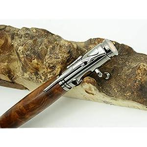 Handgedrechselter Kugelschreiber aus Thuja Maser Holz, Jagd