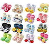 #5: HOME CUBE Cartoon Face Booties For Baby Girl And Boy(HC-018, 0-6 Months ,Multicolor)
