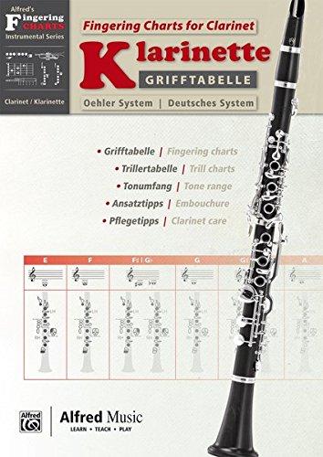 Alfred's Fingering Charts Instrumental Series: Grifftabelle Klarinette Deutsches System | Fingering Charts Bb-Clarinet Oehler System | Klarinette | Buch