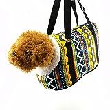 Qiyun Trasportino cane o gatto,sacchetti cane,Borsa per Cani,floreale di lana bordo cane gatto morbido bag Tote Carrier Remove Kennel Pet Travel Portable Cage