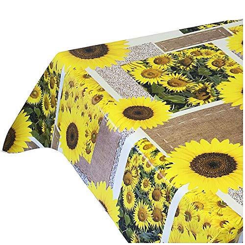 Emmevi tovaglia antimacchia cerata girasoli plastificata retro felpato 12 misure copri tavolo cucina su misura mod.favola 242 140x100cm