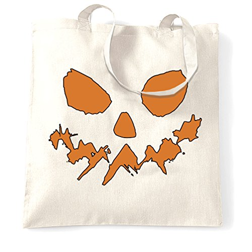 Tim And Ted Halloween Tragetasche Scary Halloween-Kürbis-Gesicht White One Size