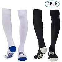 Diealles Calcetines de Fútbol Hombre, 2 Pair Calcetines de Compresión de Alta Calidad para Hombres