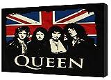 Flagge der englischen Königin-Rock-Band-Print auf Holz gerahmt Leinwand Kunstdruck, 30 x 20 inch -38mm depth
