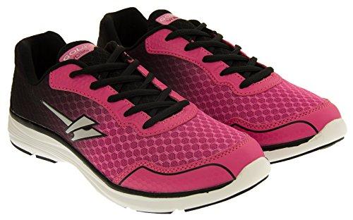 Gola ALA695 Vallis Léger Décontracté Chaussures de Sport Femmes Noir et rose