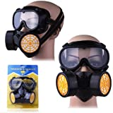 Jazooli Dual Cartridge Painting Paint Chemical Gas Dust Safety Face Respirator Mask Kit