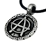 Biker Ring with Anarchy Symbol, Anarcho, Anarchy, Motorcycle-chain