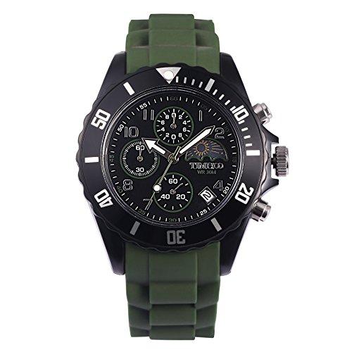 Time100 orologio sportivo cinturino di silicon nero#w70048g.02a