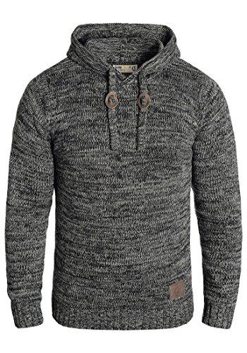 !Solid Pluto Herren Winter Pullover Strickpullover Kapuzenpullover Grobstrick Pullover mit Kapuze, Größe:XXL, Farbe:Black (9000)