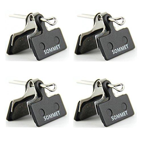 4 paia SOMMET Pastiglie freno a disco semi-metallico per Shimano Deore M615 / SLX M666 M675 / XT M785 / XTR M960 M985 M988 / Alfine