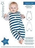 MAGAM-Stoffe ''Strampler'' Schnittmuster für Neugeborene und Babys | Gr. 44-92cm | inkl. Aufnäher ''Enno'' | 1x1403