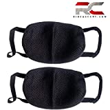 #10: Anti Pollution Mask Washable Dust Mask Air Filter Mask for Pollution Smoke Allergy Mask with Filter 4 Pcs PM2.5 (Unisex Size,Black)