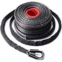 9.5mm * 28m sintética del torno de cable Línea 20500LBs cuerda Gancho + Hawse Fairlead negro y gris y rojo
