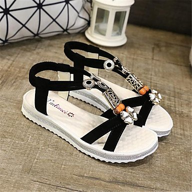 RTRY Donna Sneakers Comfort Pu Molla Canvas Informale Comfort Piatto Bianco US6 / EU36 / UK4 / CN36