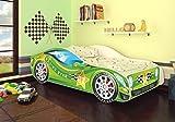 Best For Kids Autobett Junior in vier Farben mit Lattenrost 70x140 cm Top Angebot! (Grün ohne Matratze)