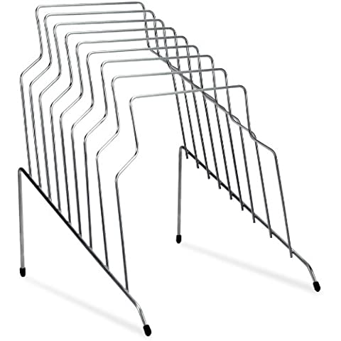 Step File, Eight Sections, Wire, 10 1/8 x 12 1/8 x 11 7/8, Silver