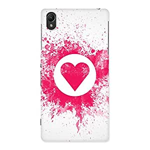 Cute Splash Heart Back Case Cover for Sony Xperia Z2
