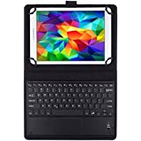 JETech® Tastiera Bluetooth senza fili Wireless Keyboard Pelle Smart Case Cover Custodia per 9 Inch e 10 Inch Tablet PC including Samsung Galaxy Tab 3, Tab 4, Tab A, Tab S2 9.7 10.1 e Altro