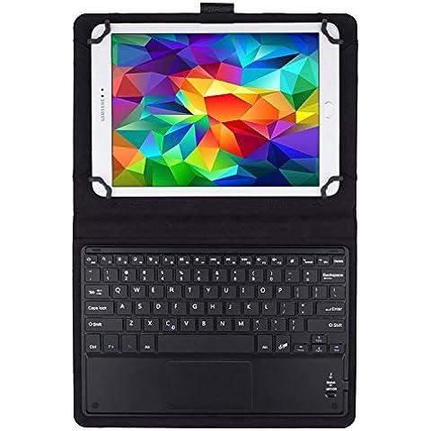 JETech Funda con Teclado Bluetooth Inalámbrico Funda de Cuero con Teclado con Touchpad para Tablet PC de 9 pulgada o 10 pulgada que incluye Samsung Galaxy Tab 3, Tab 4, Tab A, Tab S2 9.7 10.1 y los Otros Similares -