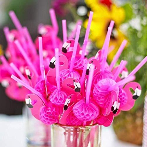 dryujdytru Heiss Stroh Plastik Trinkhalme für Party Zubehör/Hawaiisch/Geburtstag/Poolparty Dekorationen für Wohndeko - Farben