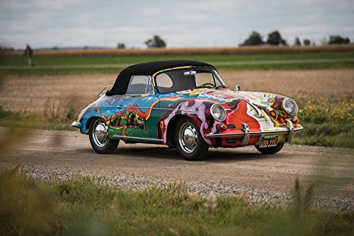 "Porsche 356 SC Cabriolet ""History of the Universe"" by Janis Joplin Art (1964) Car Print on 10 Mil Archival Satin Paper 24""x36"""