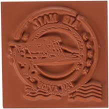 Deep Red Stamps correo aéreo–Deep Rojo Sellos, acrílico, multicolor