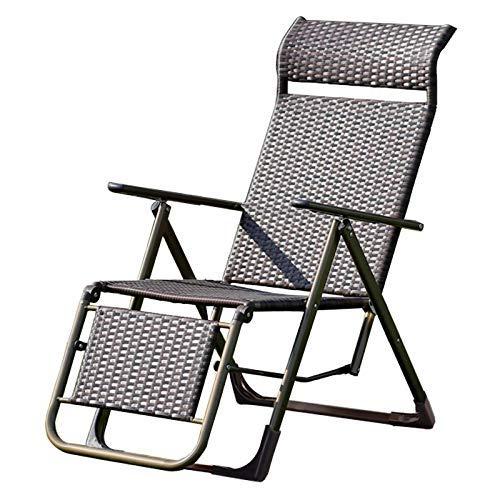 LYDB Patio Liegestühle, Old Man Wicker Stuhl Computer Stuhl Sonnenliege Haushalt Balkon Stuhl Büro Mittagspause Liegestühle Klappstühle (Farbe: C)