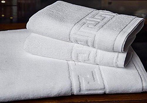 Energy Colors Textil - Hogar Juego DE Toallas Blancas 100% algodón 400 Gramos para Lavabo Y BAÑO, Compuesto por 2 Toallas de 50x100 cm y 2 DE 70x140 cm PERFECTAS para HOSTELERIA.