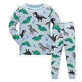 WWAXU Jungen Schlafanzug Dinosaur1 Gr. 3-4 Jahre, 1-Dinosaur