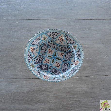 Cuenco marroquí turquesa,d. 20cm