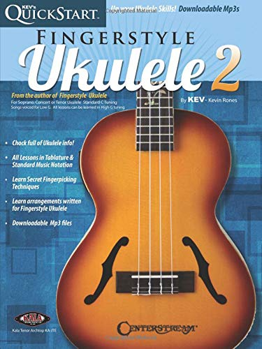 Kev's QuickStart For Fingerstyle Ukulele: Vol. 2 (Book/Online Audio)
