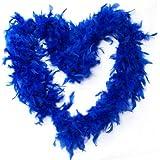 BestOfferBuy 2M Feder Boa Plüsch Party Dekoration Kostüm Verkleidung Requisit Blau