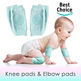 Set of 2 Baby Knee and Elbow Pads for Crawling Toddlers, Girls, Boys