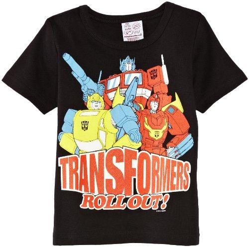 Junge Kostüm Transformer (Logoshirt Jungen T-Shirt, Kids Shirt Transformers-Roll Out!, GR. 110 (Herstellergröße:104/116),)