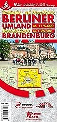Berliner Umland und Uebersichtskarte Brandenburg: Radwander- und Freizeitkarte