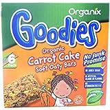 Organix Goodies - Organic Soft Oaty Bars - Carrot Cake - 6x30g